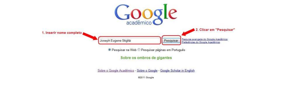 Como obter o levantamento de citações: Google Acadêmico (1/2)