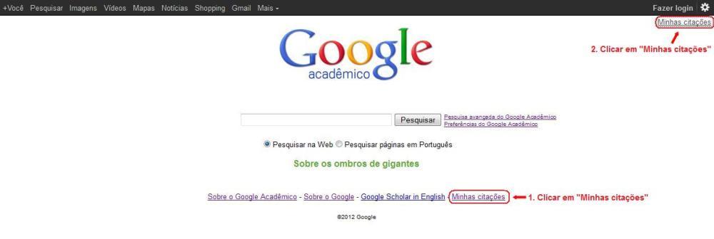 Como obter o índice h: Google Acadêmico (1/6)