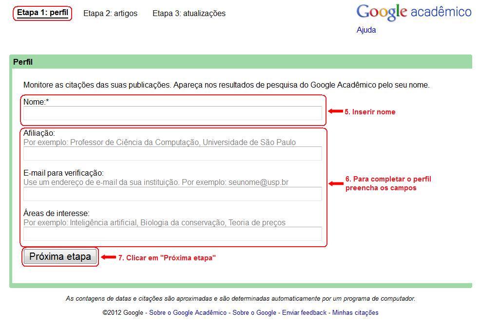 Como obter o índice h: Google Acadêmico (3/6)