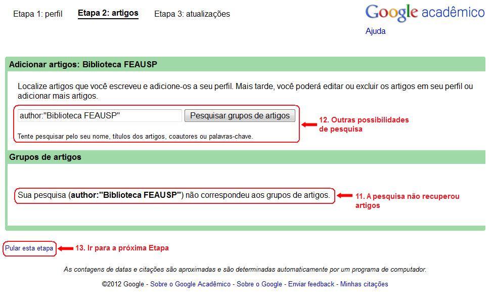 Como obter o índice h: Google Acadêmico (5/6)