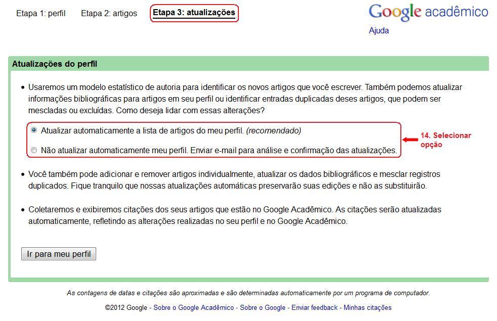 Como obter o índice h: Google Acadêmico (6/6)