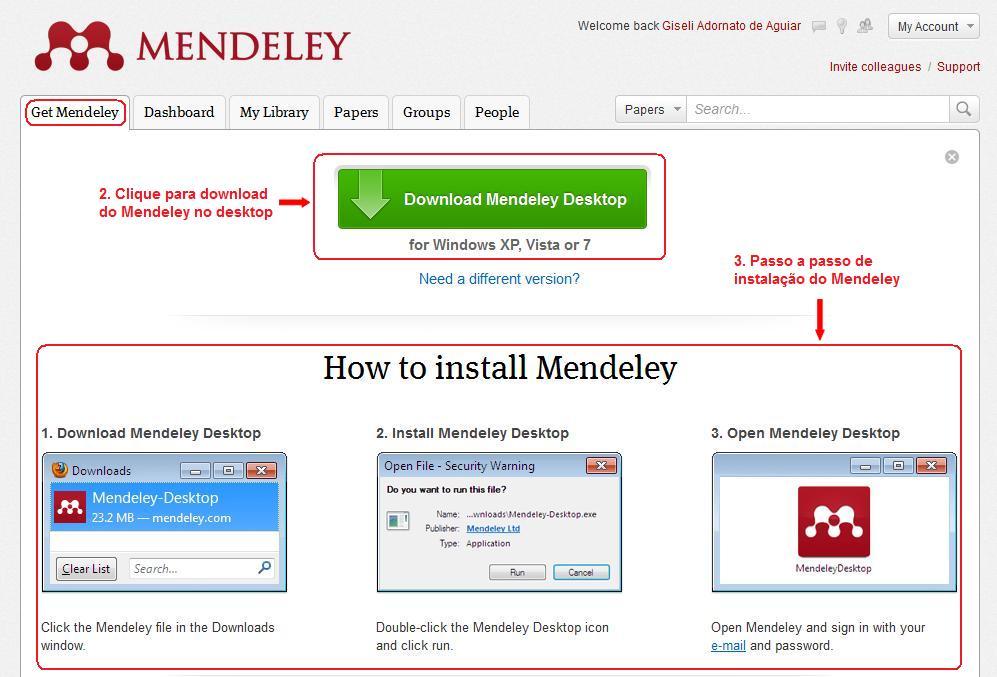 Como criar e iniciar sua biblioteca de pesquisas no Mendeley (2/6)