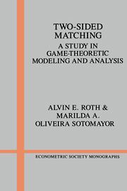 Resultado de imagem para A Two-Sided Matching Model o