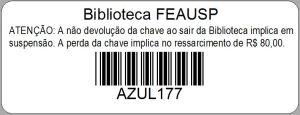 Exemplo de etiqueta do armário AZUL